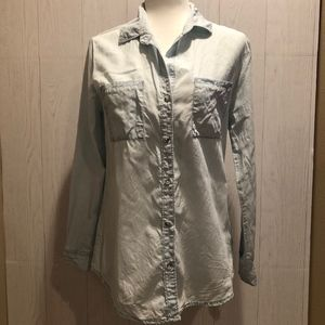 Thread and Supply Button Down Denim Top